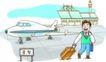 家庭旅游0047,家庭旅游,家庭,机场 航班 拖行李