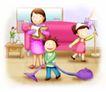 幸福生活0021,幸福生活,家庭,帮忙做家务