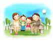 幸福生活0022,幸福生活,家庭,在公园游玩