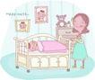 母亲生活0023,母亲生活,家庭,娃娃床