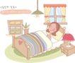 母亲生活0041,母亲生活,家庭,卧室 睡觉