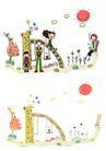 儿童卡通游玩0011,儿童卡通游玩,少年儿童,