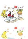 儿童卡通游玩0016,儿童卡通游玩,少年儿童,站在纸飞机上