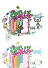 儿童卡通游玩0017,儿童卡通游玩,少年儿童,刷彩色油漆
