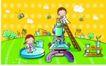 儿童卡通游玩0021,儿童卡通游玩,少年儿童,做实验