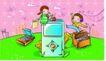 儿童卡通游玩0022,儿童卡通游玩,少年儿童,儿童插画