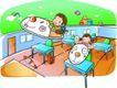 儿童卡通游玩0023,儿童卡通游玩,少年儿童,课桌椅
