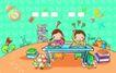 儿童卡通游玩0024,儿童卡通游玩,少年儿童,在校
