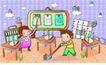 儿童卡通游玩0031,儿童卡通游玩,少年儿童,搞卫生 爱卫生的孩子们