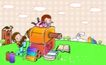 儿童卡通游玩0033,儿童卡通游玩,少年儿童,卷笔刀 铅笔