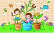 儿童卡通游玩0037,儿童卡通游玩,少年儿童,儿童世界 趣味儿童插画