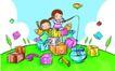 儿童卡通游玩0039,儿童卡通游玩,少年儿童,鱼缸 钓鱼