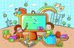 儿童卡通游玩0041,儿童卡通游玩,少年儿童,小老师 一道彩虹