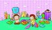 儿童卡通游玩0042,儿童卡通游玩,少年儿童,