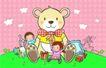 儿童卡通游玩0051,儿童卡通游玩,少年儿童,黄色小熊 儿童玩具 节日礼物