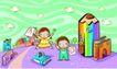 儿童卡通游玩0054,儿童卡通游玩,少年儿童,玩乐城 幼儿园 学英文