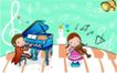 儿童卡通游玩0056,儿童卡通游玩,少年儿童,少儿音乐 艺术熏陶 二重奏