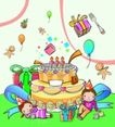 儿童卡通游玩0057,儿童卡通游玩,少年儿童,生日蛋糕 巨型蛋糕 生日礼物