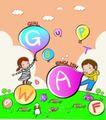 儿童卡通游玩0058,儿童卡通游玩,少年儿童,英文字母 字母气球 少儿英语