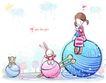 儿童情人节0029,儿童情人节,少年儿童,巨大毛线团
