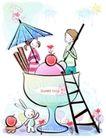 儿童情人节0031,儿童情人节,少年儿童,杯子 楼梯