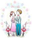 儿童情人节0038,儿童情人节,少年儿童,手挽手 结婚了