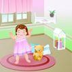 儿童游玩0027,儿童游玩,少年儿童,和玩具熊在一起