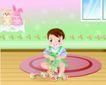 儿童游玩0029,儿童游玩,少年儿童,一人玩玩具