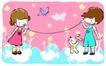 儿童游玩0046,儿童游玩,少年儿童,土电话 友谊 通话