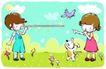 儿童游玩0052,儿童游玩,少年儿童,长鼻子 怪鼻子男孩 魔咒
