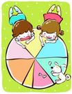 儿童游玩0060,儿童游玩,少年儿童,彩盘 骨头 狗食