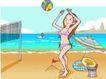 儿童运动0017,儿童运动,少年儿童,沙滩排球