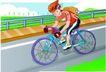 儿童运动0021,儿童运动,少年儿童,骑自行车