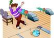 儿童运动0022,儿童运动,少年儿童,玩保龄球
