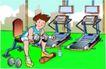 儿童运动0032,儿童运动,少年儿童,男子健身 哑铃 举哑铃
