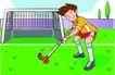 儿童运动0037,儿童运动,少年儿童,曲棍球 球棒 球门