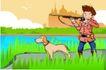 儿童运动0039,儿童运动,少年儿童,猎手 神枪手 举起枪