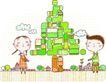 动画儿童0025,动画儿童,少年儿童,有趣的树