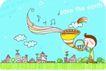 动画儿童0026,动画儿童,少年儿童,吹号角