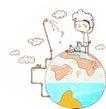 动画儿童0032,动画儿童,少年儿童,大大的地球 洗澡