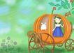唯美插画0016,唯美插画,少年儿童,南瓜车