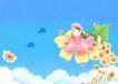 唯美插画0031,唯美插画,少年儿童,花朵女孩