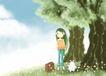 唯美插画0032,唯美插画,少年儿童,唯美插画