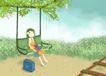 唯美插画0033,唯美插画,少年儿童,纯美插画
