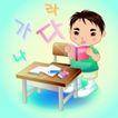 学生学习0008,学生学习,少年儿童,读书郎 课桌 椅子