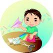 学生学习0016,学生学习,少年儿童,折纸 折纸飞机 彩色纸