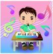学生学习0024,学生学习,少年儿童,弹琴 唱歌