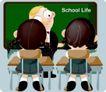 学生课堂0008,学生课堂,少年儿童,上课时 学生 老师
