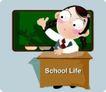 学生课堂0017,学生课堂,少年儿童,学校生活 课堂上