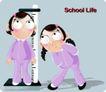 学生课堂0021,学生课堂,少年儿童,测量身高 长个了